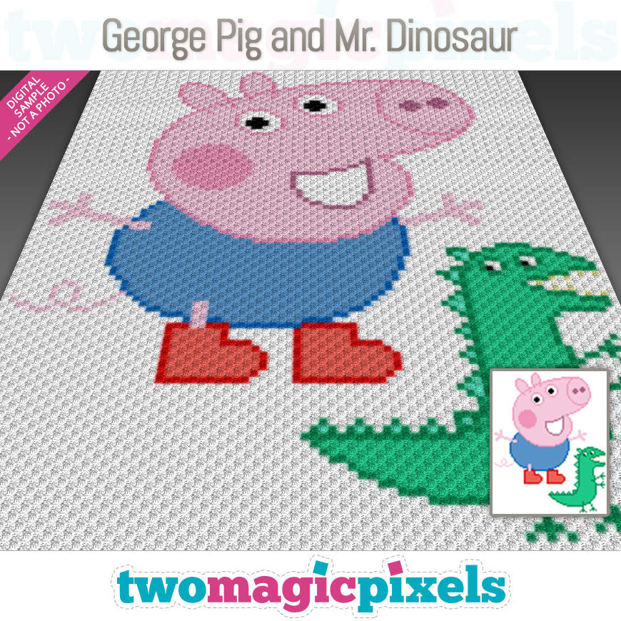 George Pig and Mr. Dinosaur by Two Magic Pixels
