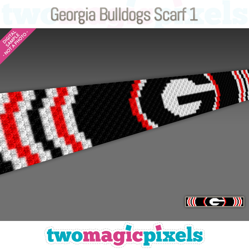 Georgia Bulldogs Scarf 1 by Two Magic Pixels