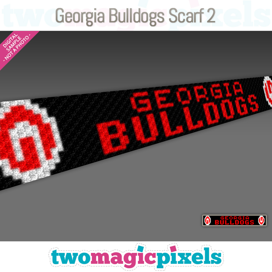 Georgia Bulldogs Scarf 2 by Two Magic Pixels