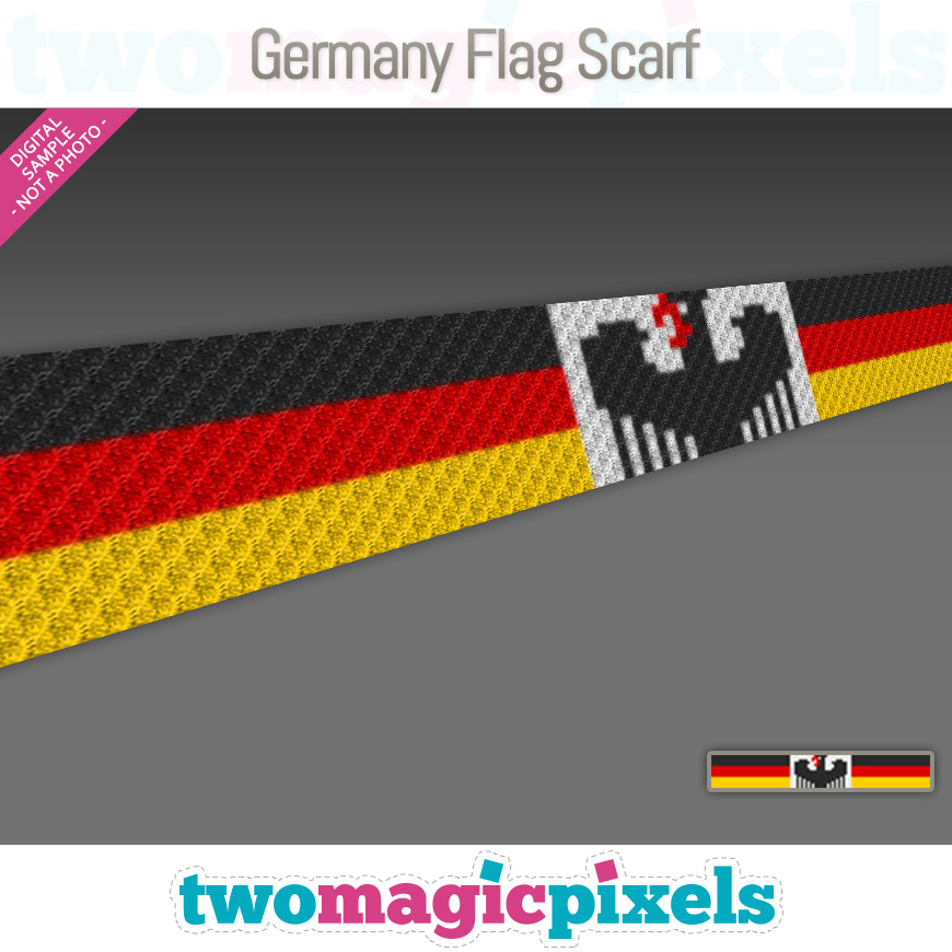 Germany Flag Scarf by Two Magic Pixels