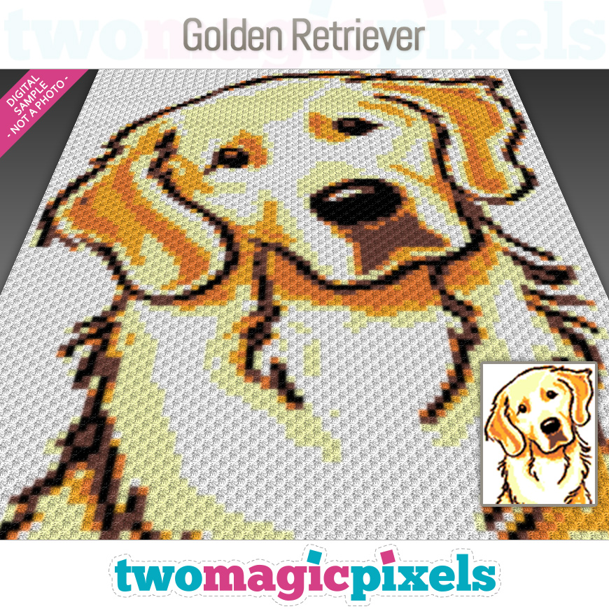 Golden Retriever by Two Magic Pixels