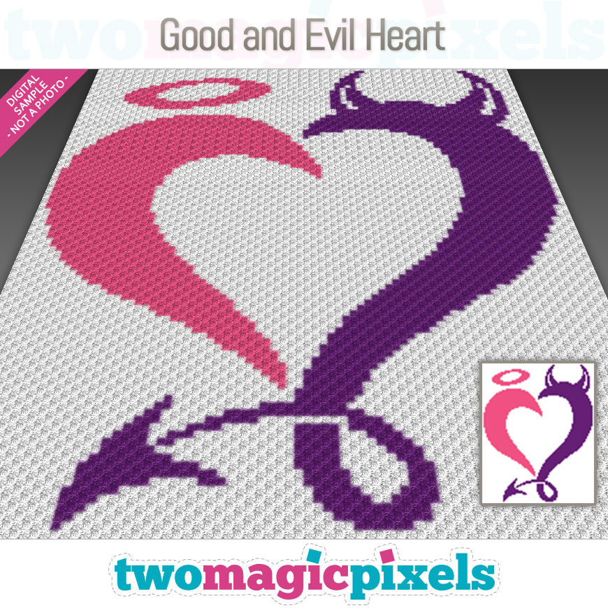 Good and Evil Heart by Two Magic Pixels