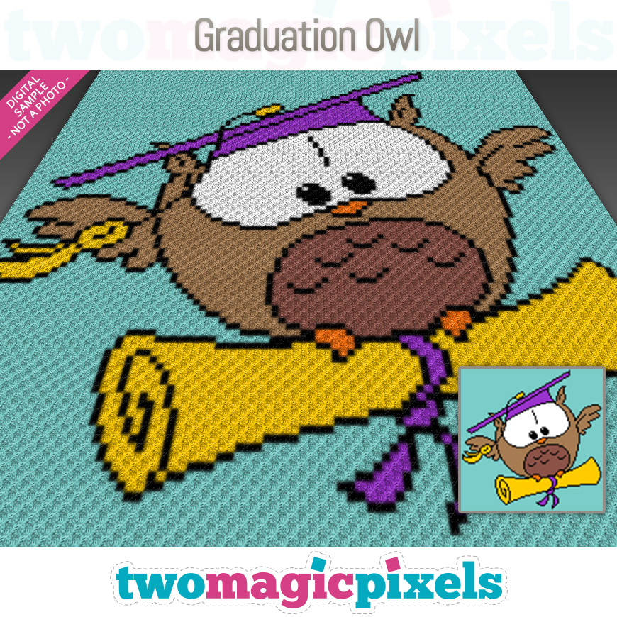 Graduation Owl by Two Magic Pixels