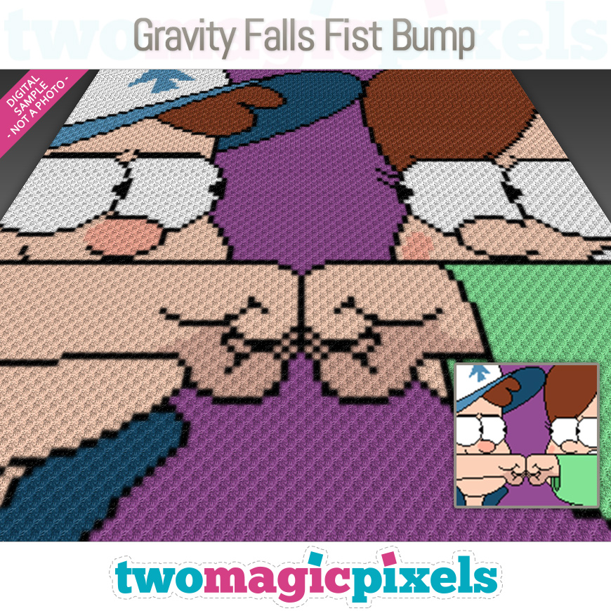 Gravity Falls Fist Bump by Two Magic Pixels
