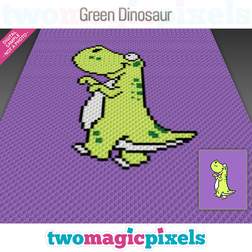 Green Dinosaur by Two Magic Pixels