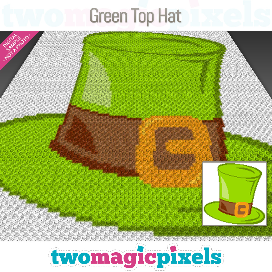 Green Top Hat by Two Magic Pixels