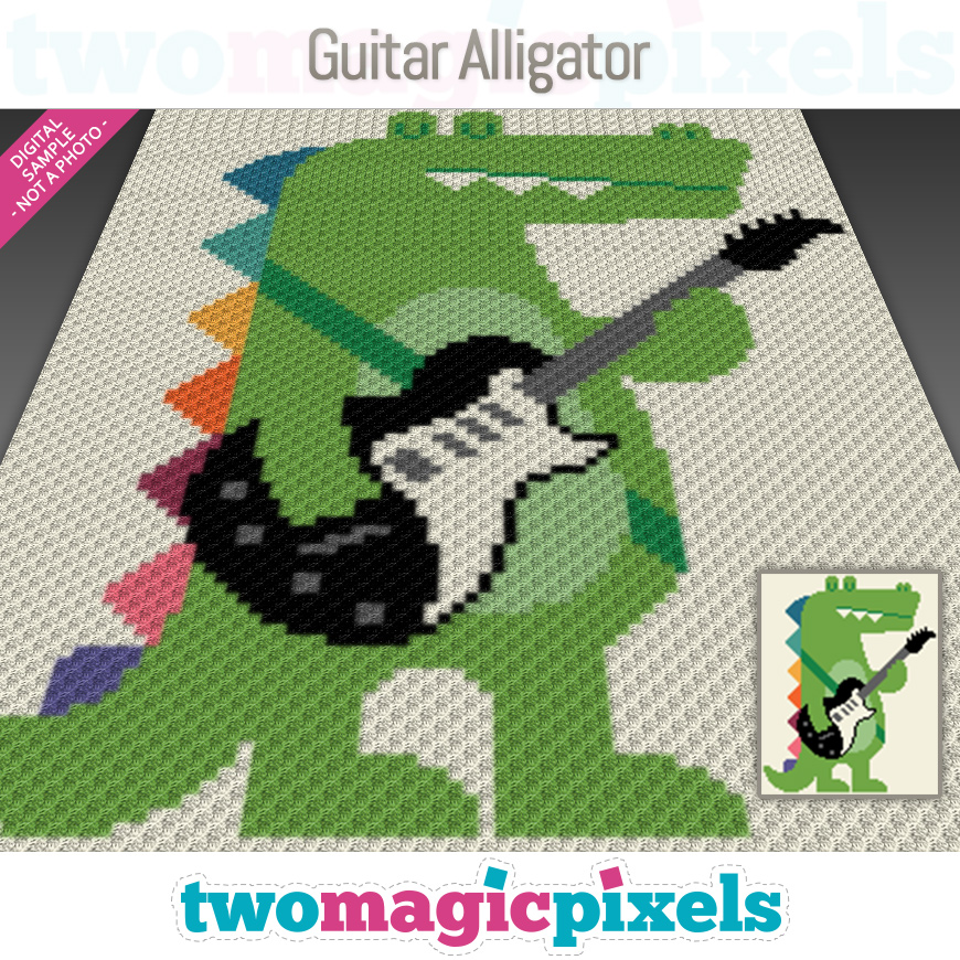 Guitar Alligator by Two Magic Pixels