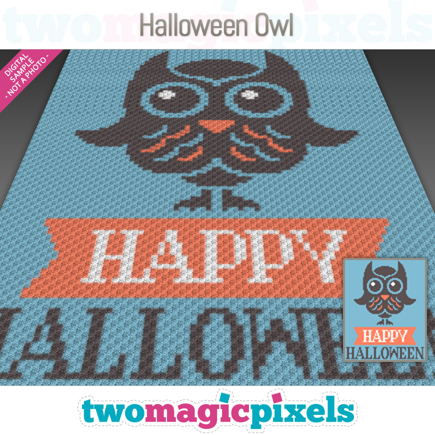 Halloween Owl by Two Magic Pixels