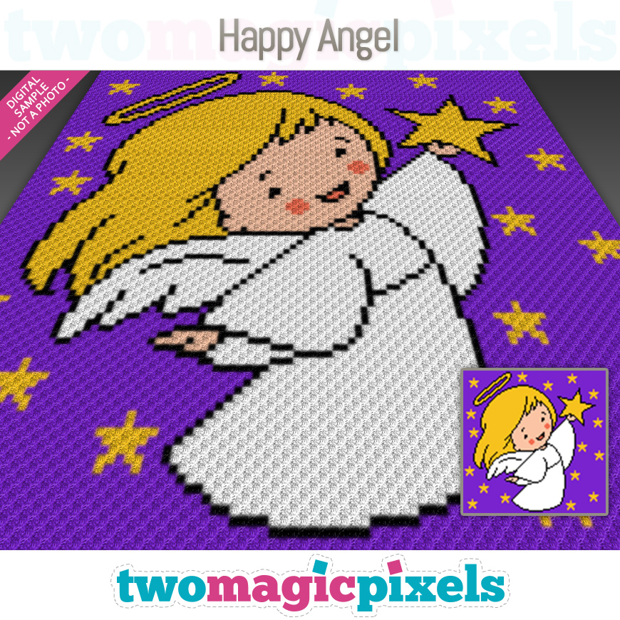 Happy Angel by Two Magic Pixels