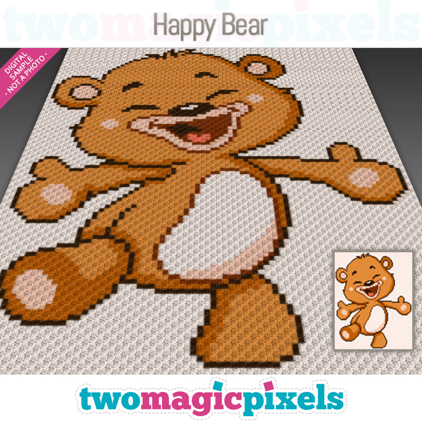 Happy Bear by Two Magic Pixels