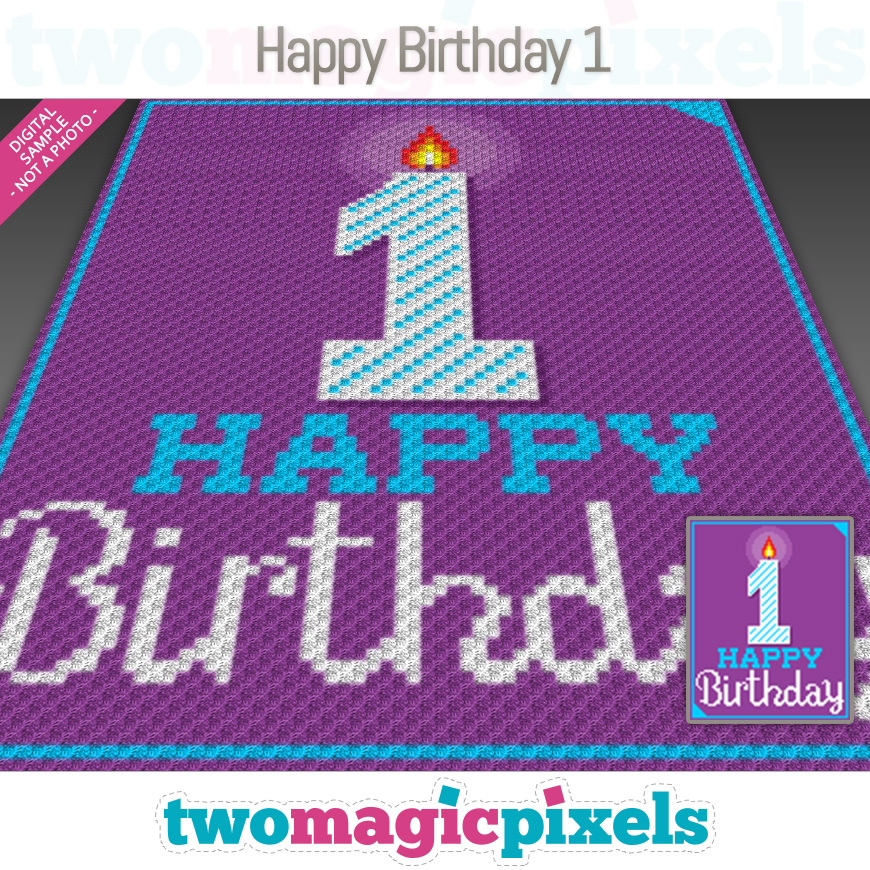 Happy Birthday 1 by Two Magic Pixels