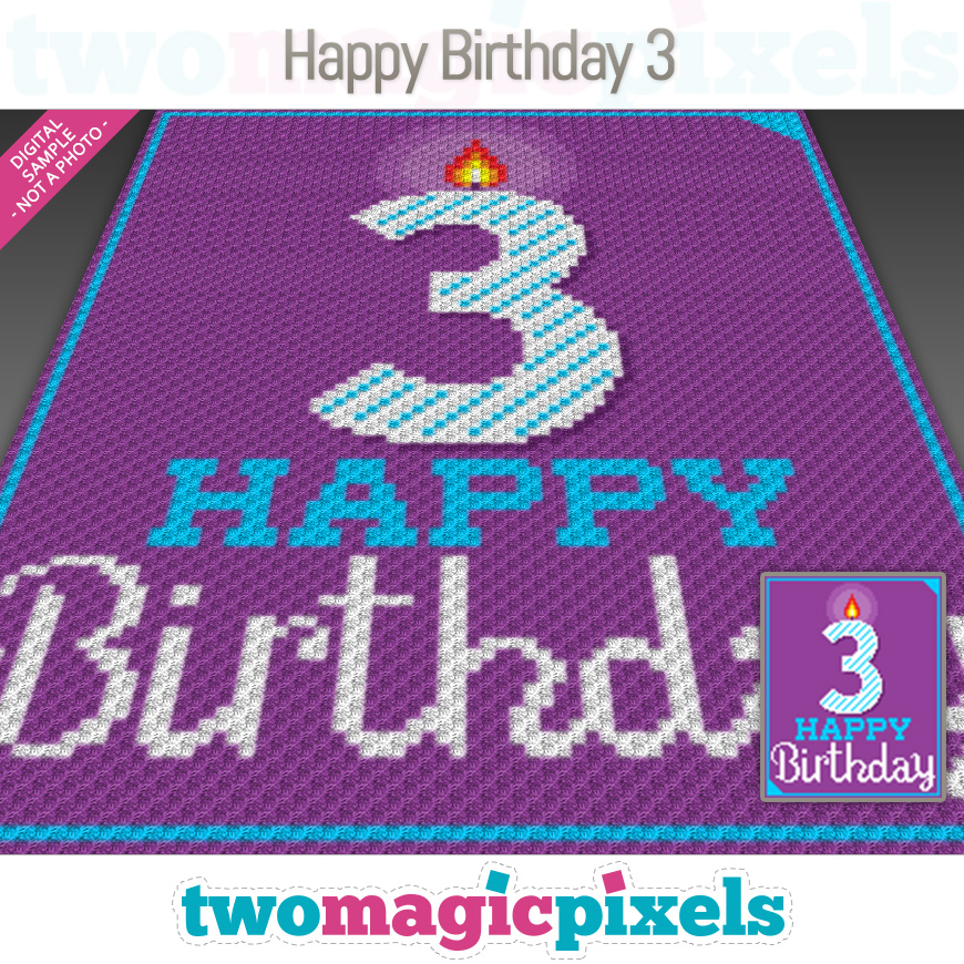 Happy Birthday 3 by Two Magic Pixels