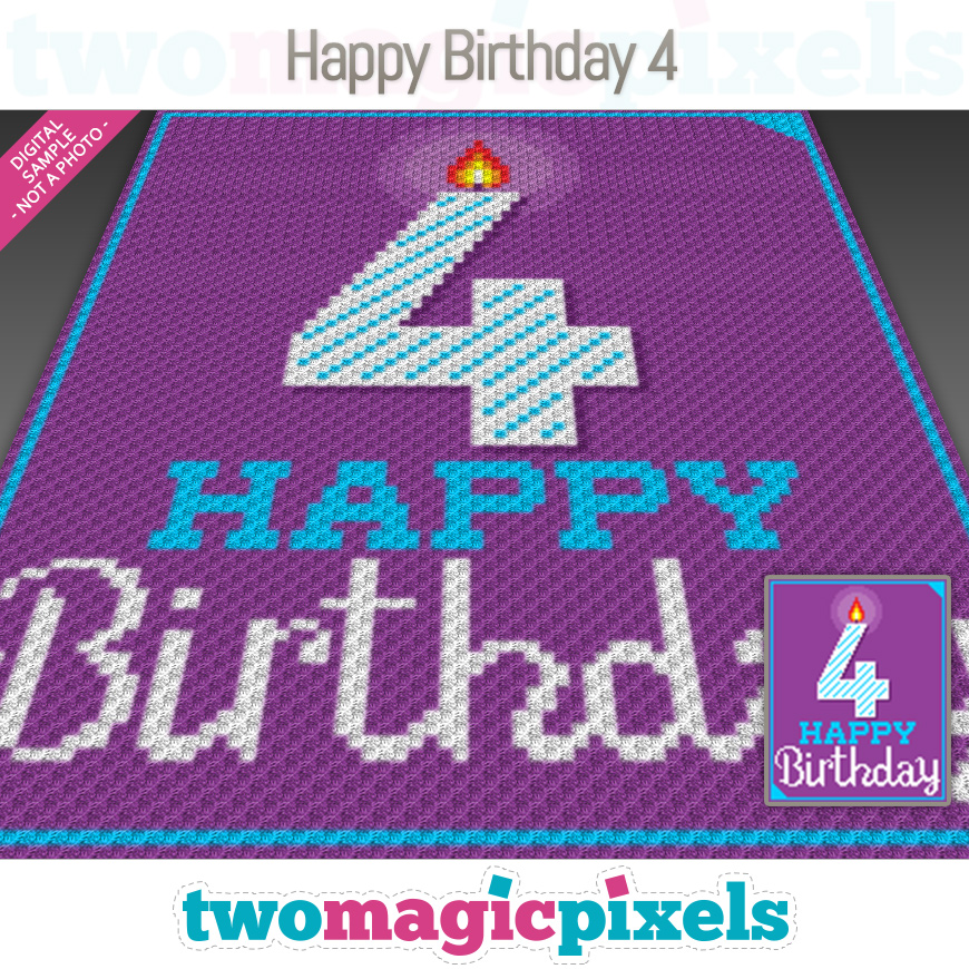 Happy Birthday 4 by Two Magic Pixels