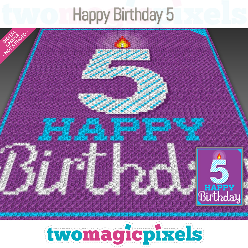 Happy Birthday 5 by Two Magic Pixels