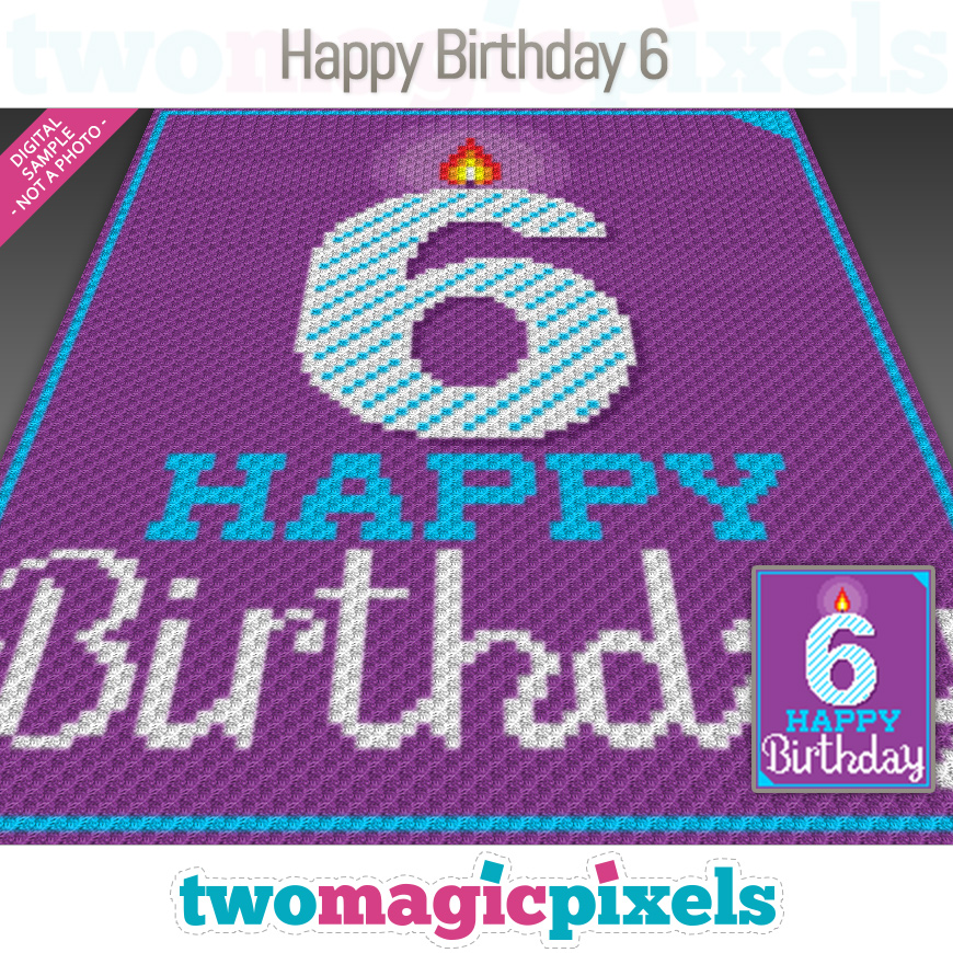 Happy Birthday 6 by Two Magic Pixels