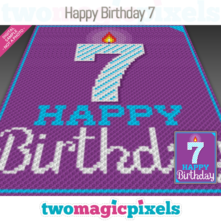 Happy Birthday 7 by Two Magic Pixels
