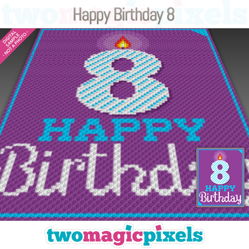 Happy Birthday 8 by Two Magic Pixels