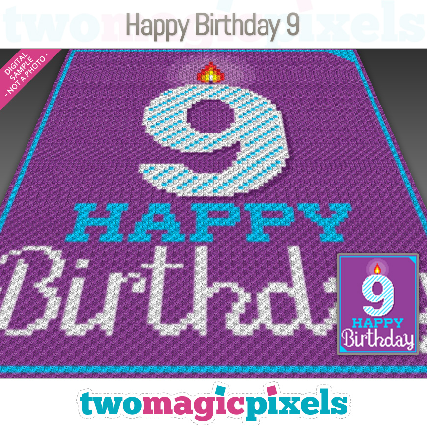 Happy Birthday 9 by Two Magic Pixels