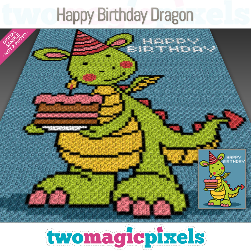 Happy Birthday Dragon by Two Magic Pixels