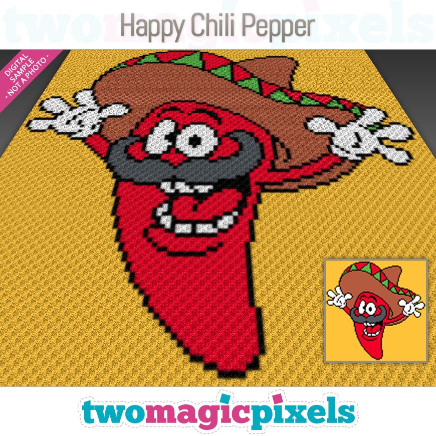 Happy Chili Pepper by Two Magic Pixels