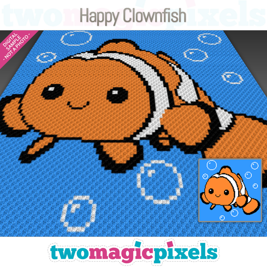 Happy Clownfish by Two Magic Pixels