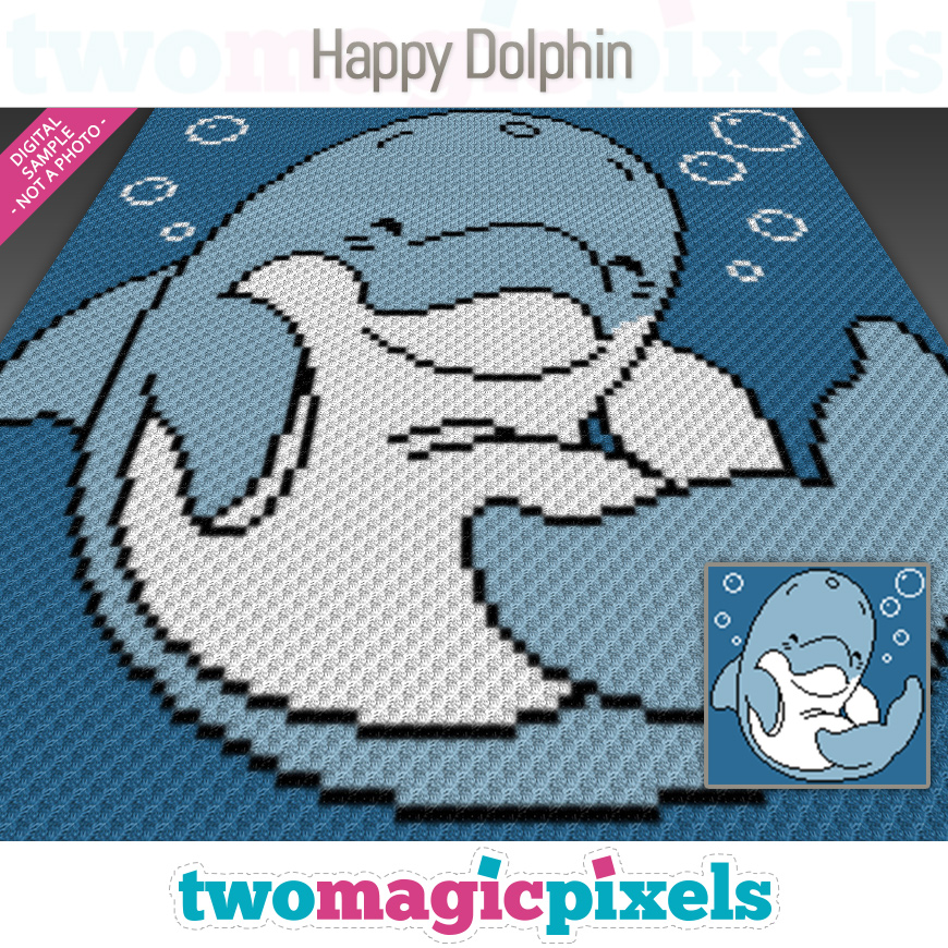 Happy Dolphin by Two Magic Pixels