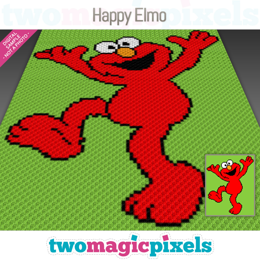 Happy Elmo by Two Magic Pixels
