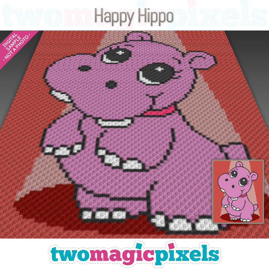 Happy Hippo by Two Magic Pixels