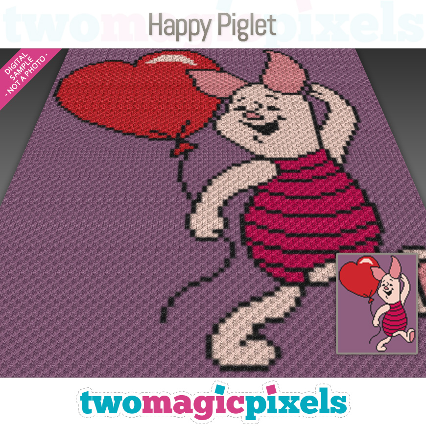 Happy Piglet by Two Magic Pixels