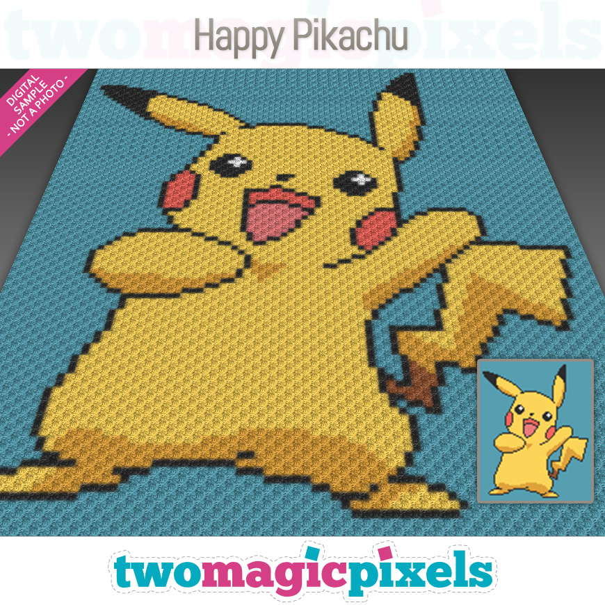 Happy Pikachu by Two Magic Pixels