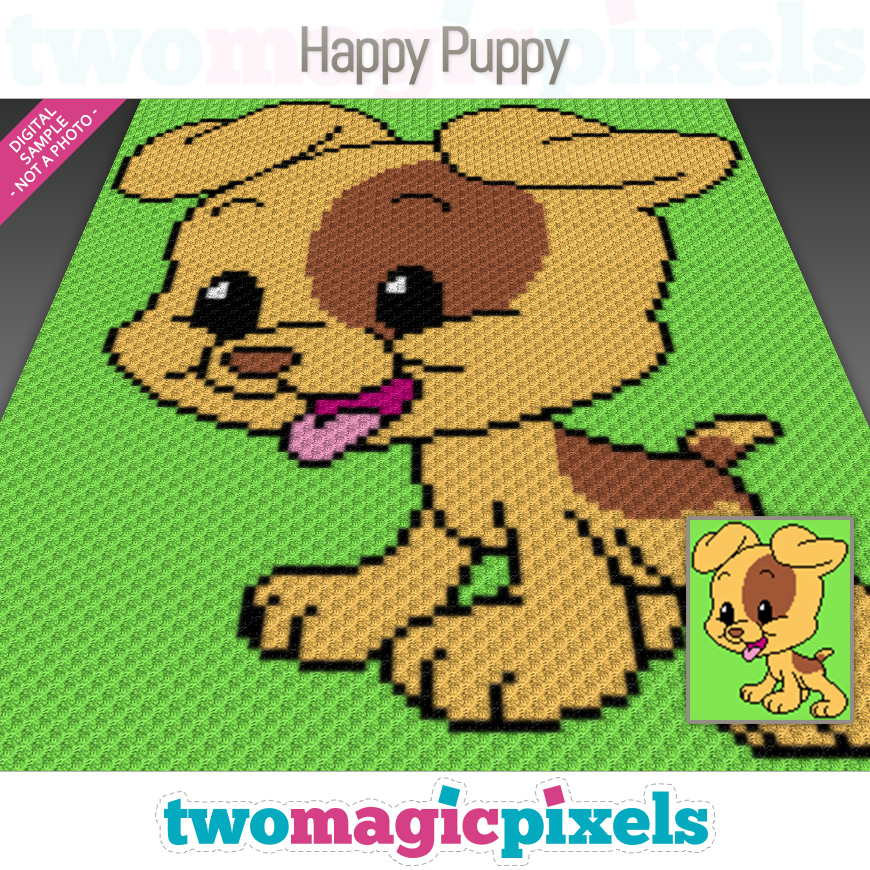 Happy Puppy by Two Magic Pixels