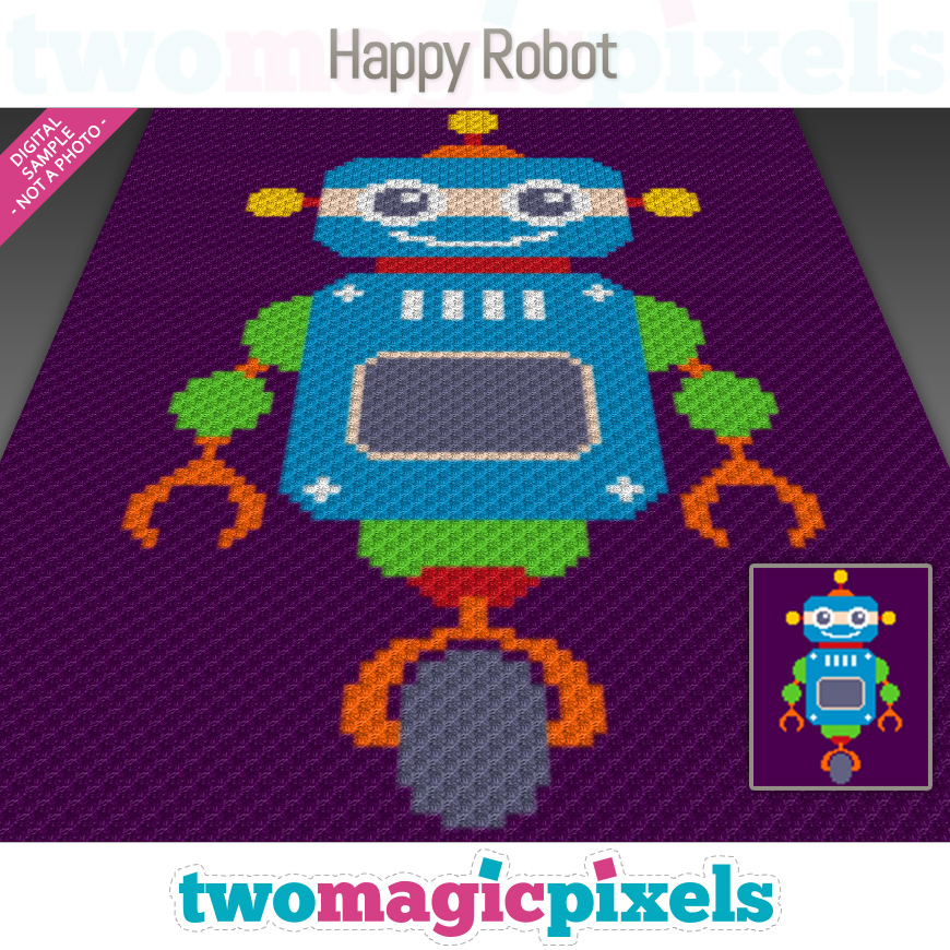 Happy Robot by Two Magic Pixels