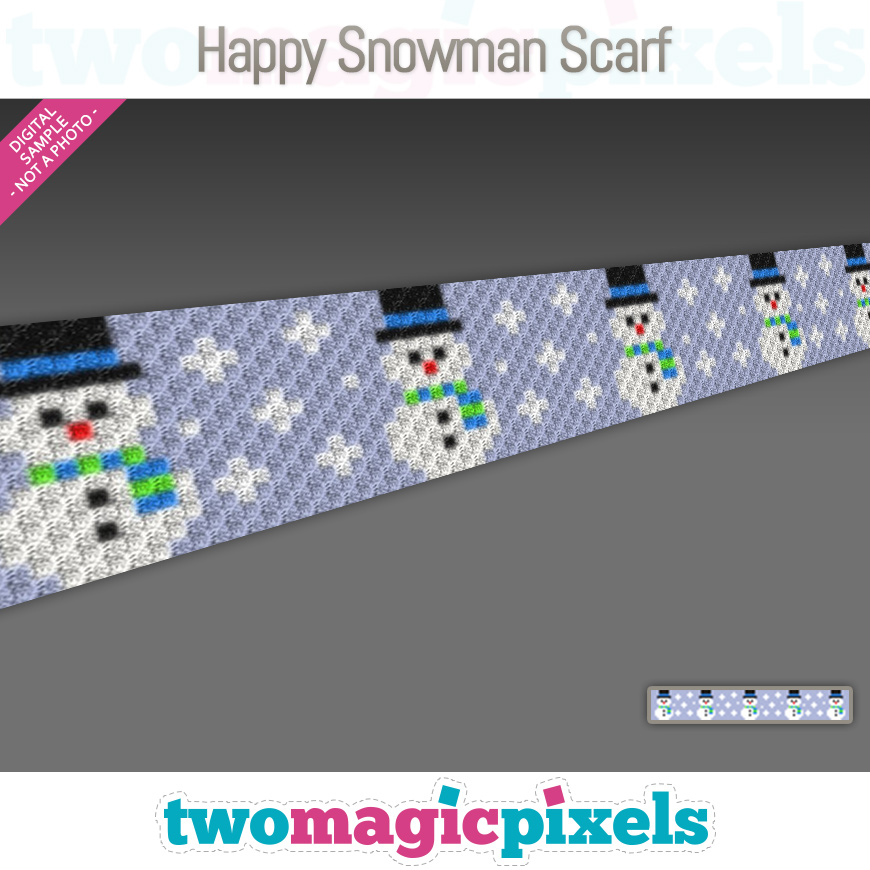 Happy Snowman Scarf by Two Magic Pixels