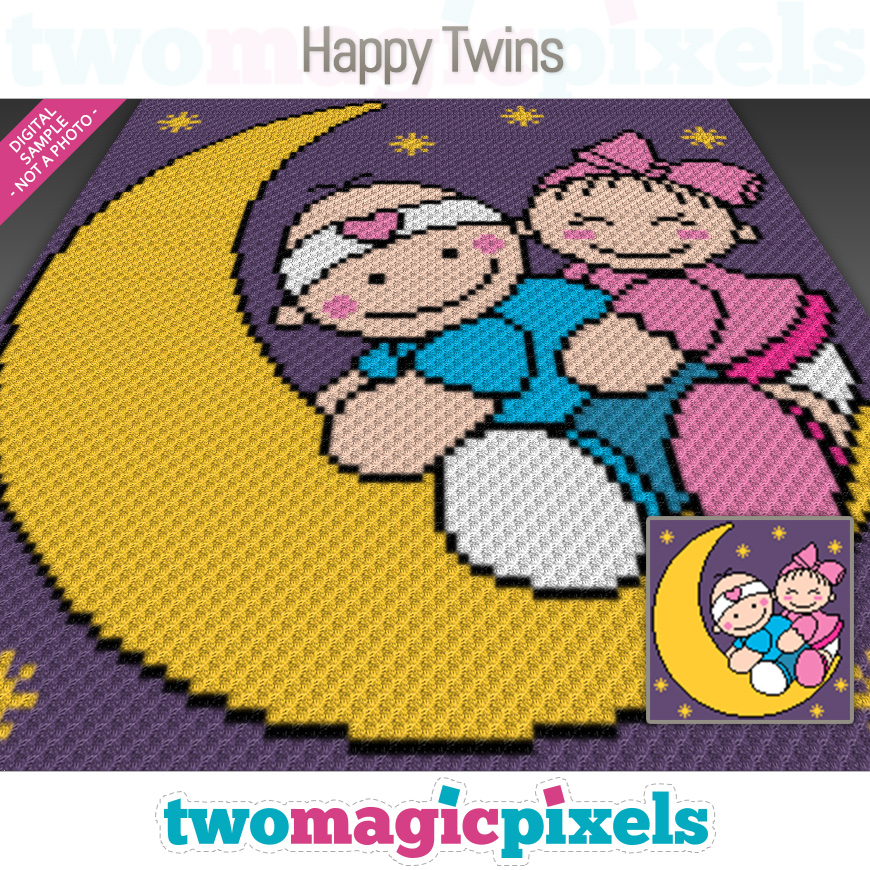 Happy Twins by Two Magic Pixels