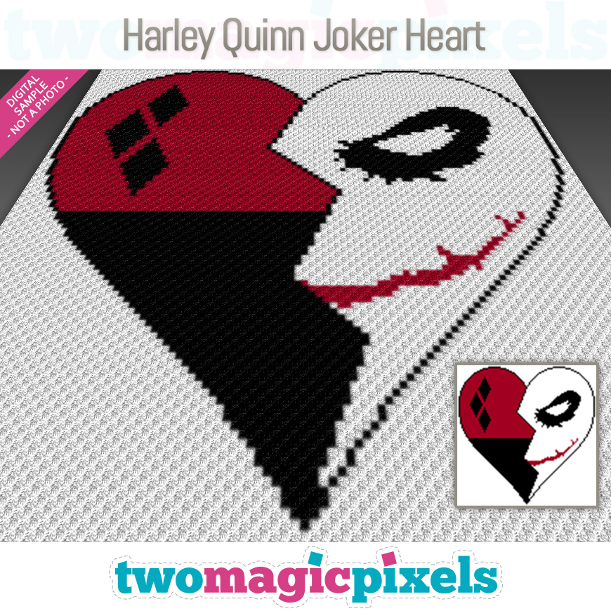 Harley Quinn Joker Heart by Two Magic Pixels