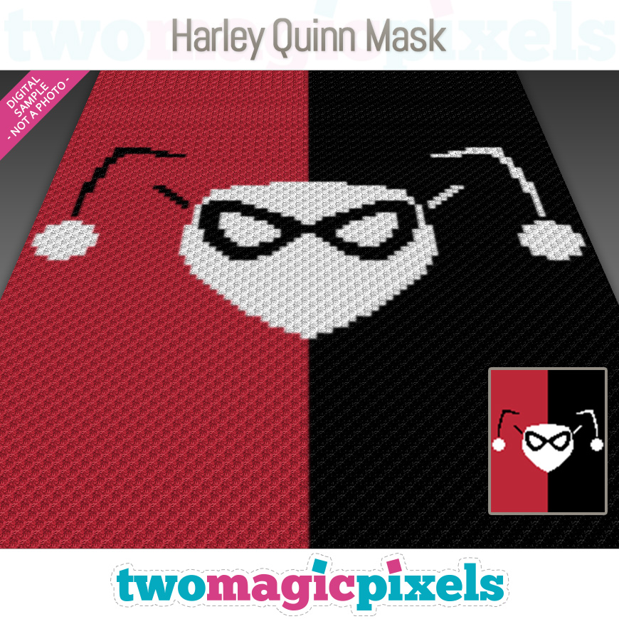 Harley Quinn Mask by Two Magic Pixels