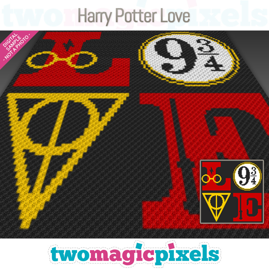 Harry Potter Love by Two Magic Pixels