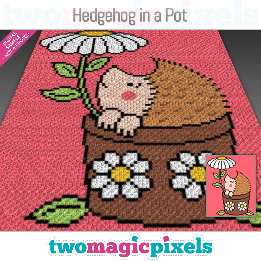 Hedgehog in a Pot by Two Magic Pixels