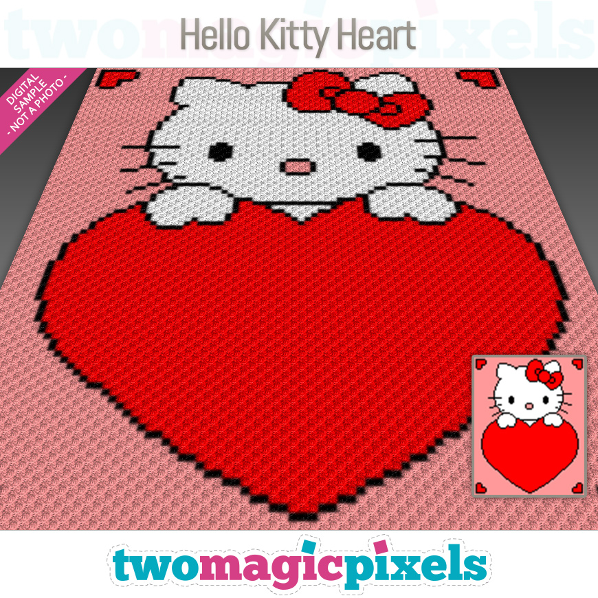 Hello Kitty Heart by Two Magic Pixels