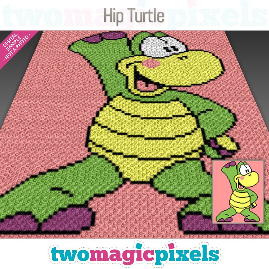 Hip Turtle by Two Magic Pixels