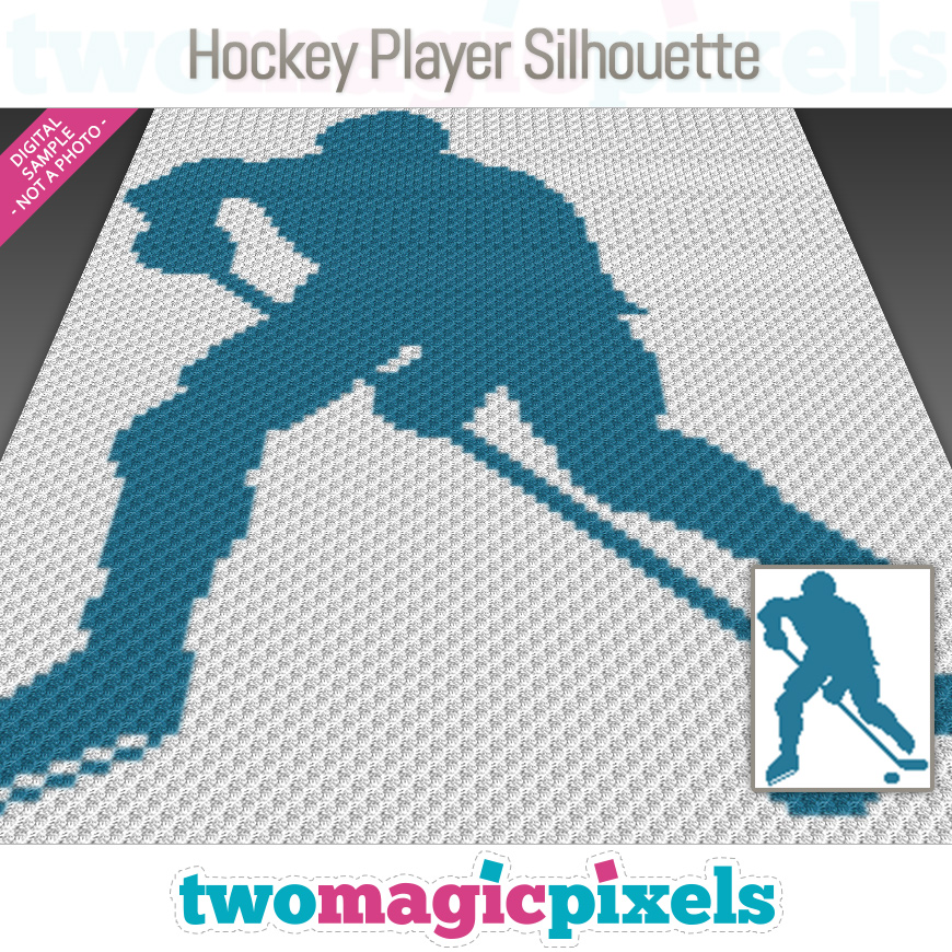 Hockey Player Silhouette by Two Magic Pixels