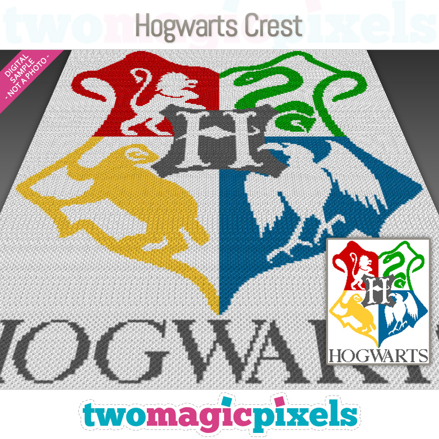 Hogwarts Crest by Two Magic Pixels