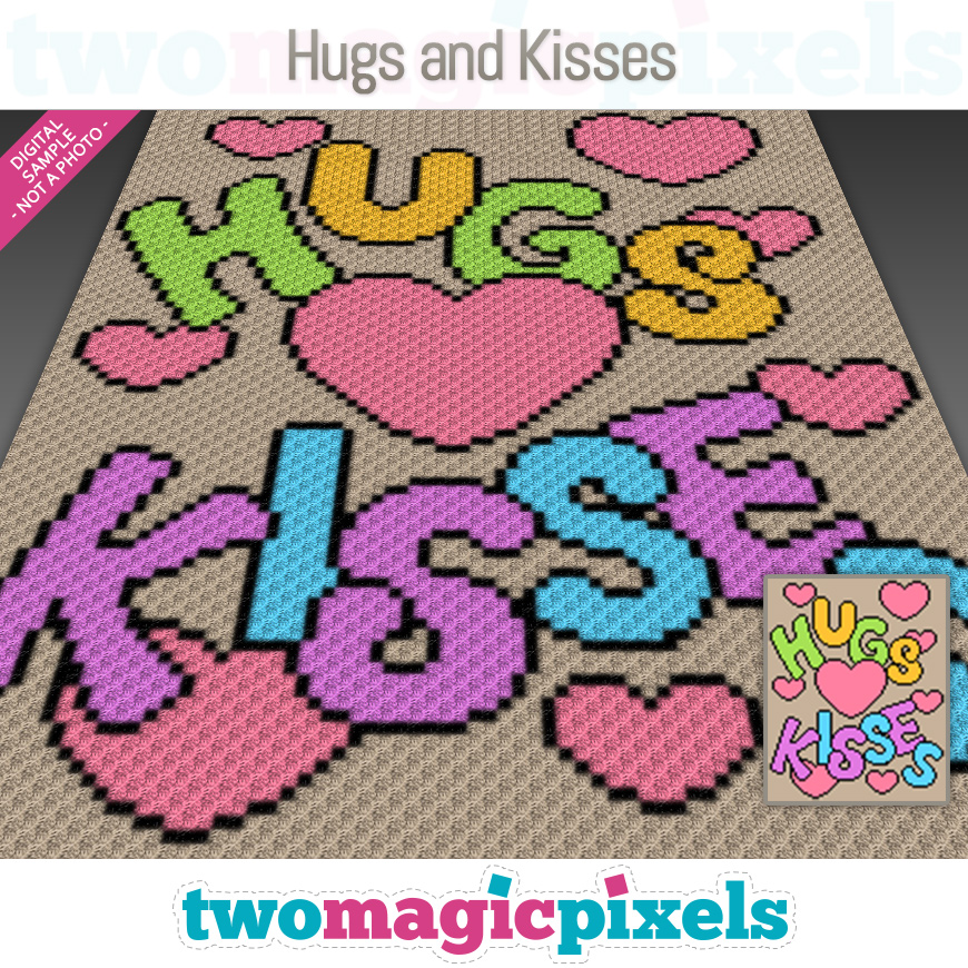 Hugs and Kisses by Two Magic Pixels