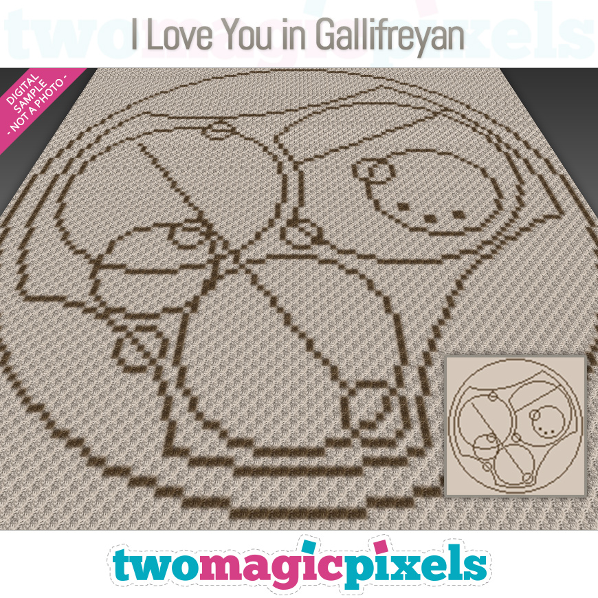 I Love You in Gallifreyan by Two Magic Pixels