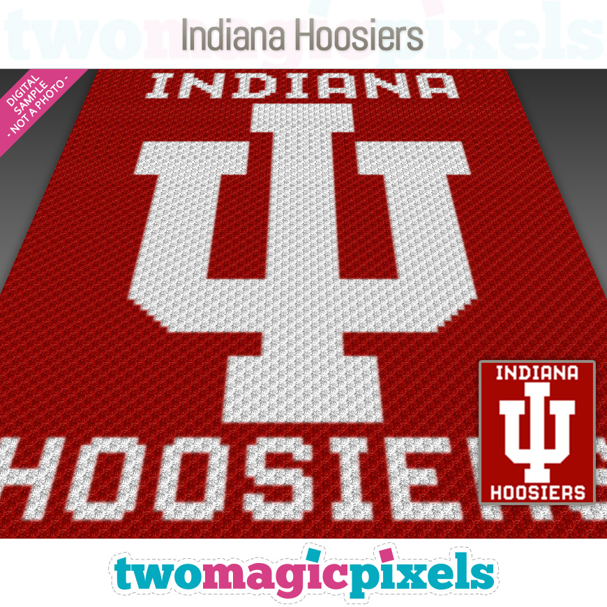 Indiana Hoosiers by Two Magic Pixels
