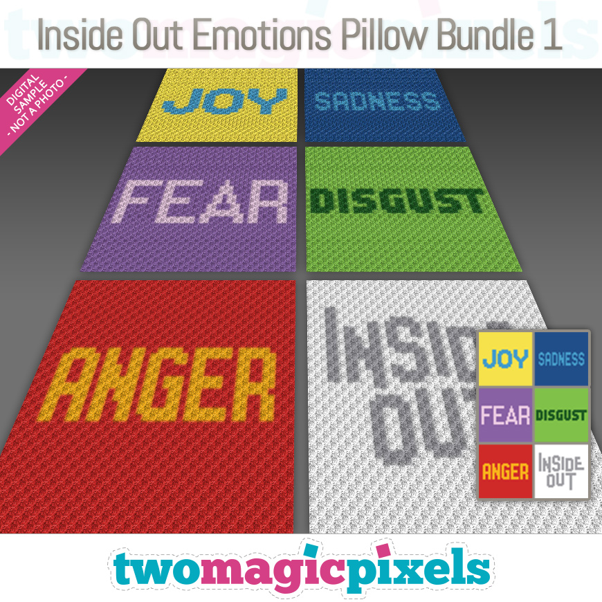 Inside Out Emotions Pillow Bundle 1 by Two Magic Pixels