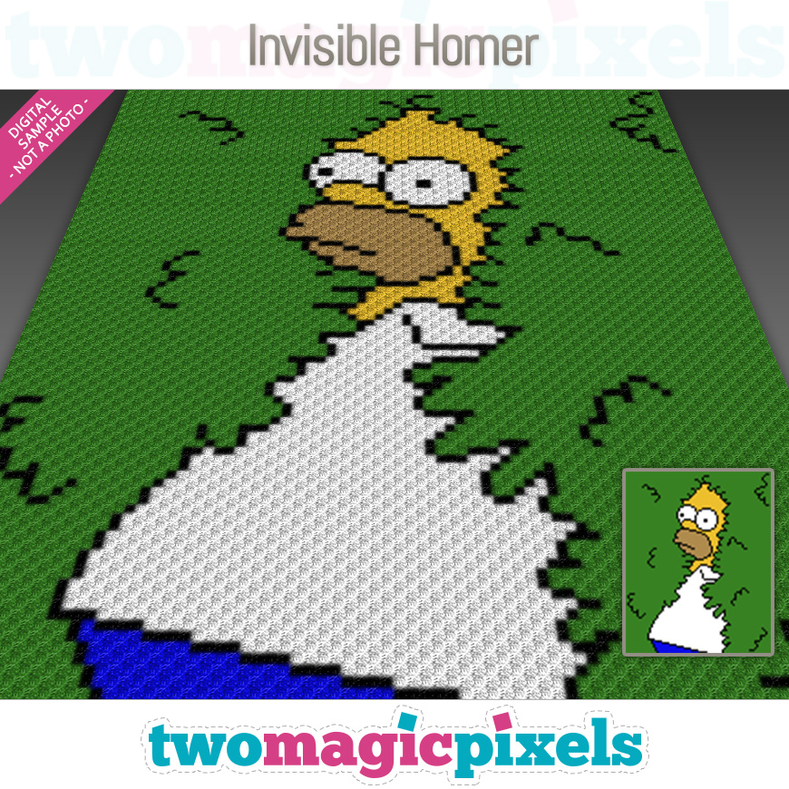 Invisible Homer by Two Magic Pixels