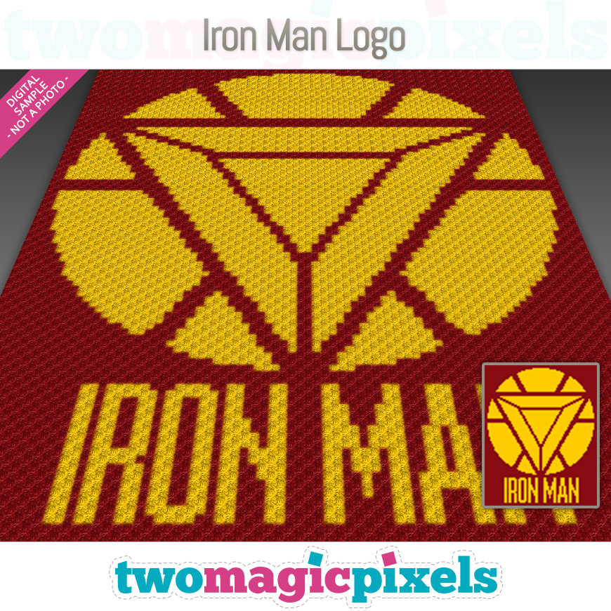 Iron Man Logo by Two Magic Pixels