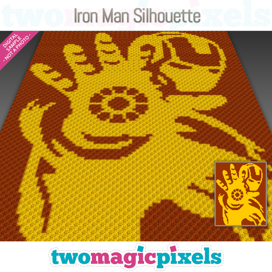 Iron Man Silhouette by Two Magic Pixels