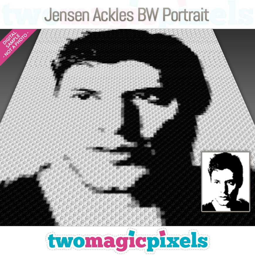 Jensen Ackles BW Portrait by Two Magic Pixels